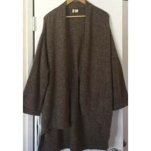 Anthro Moth Wool Open Front Sweater Small
